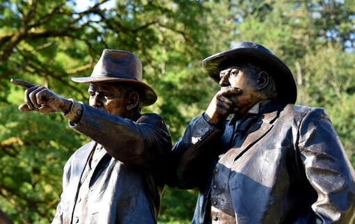 Samuel Lancaster and Sam Hill Bronze Monument