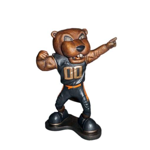 University Mascot Bronze Sculpture - Benny Beaver-1