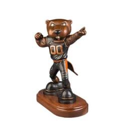 University Mascot Bronze Sculpture - Benny Beaver-2