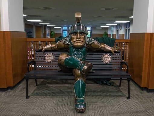 University Mascot Bronze Sculpture Monument-1