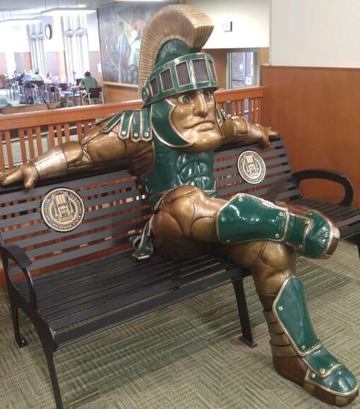 University Mascot Bronze Sculpture Monument-2