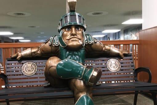 University Mascot Bronze Sculpture Monument