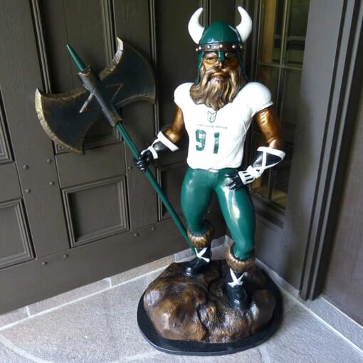 Viking Mascot Bronze Sculpture
